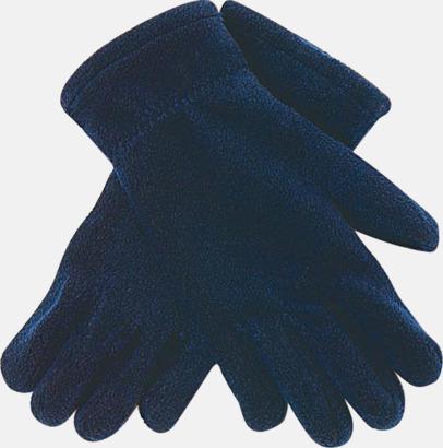 Scuro Blue Fleecevantar i många färger med brodyr