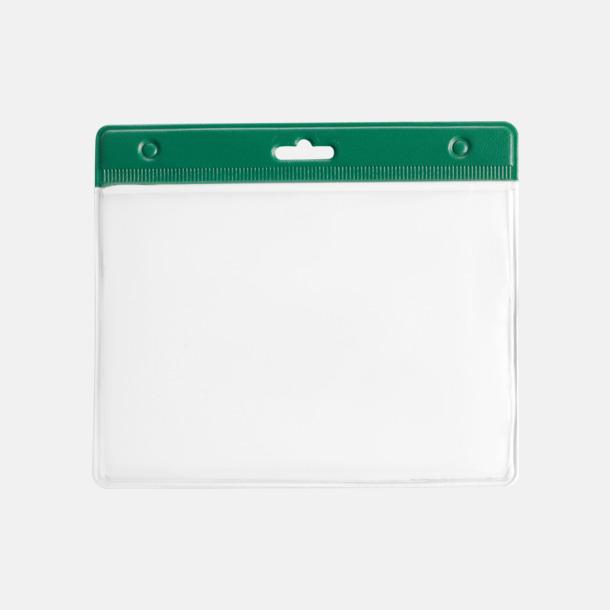 Grön ID-fodral med reklamtryck