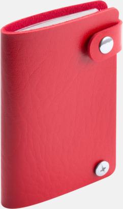 Röd Visitkortsmappar med reklamtryck