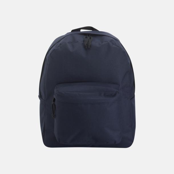 Blå Stilren och klassisk ryggsäck med reklamtryck