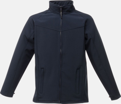 Marinblå (herr) Soft-shell jackor i herr- & dammodell med reklamtryck