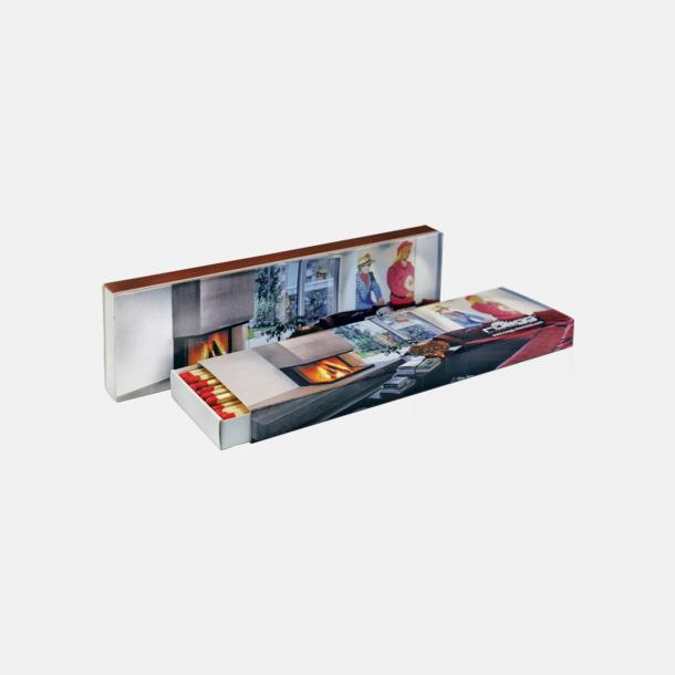Ca 40 st 15 eller 40 brasstickor i tändsticksaskar med reklamtryck