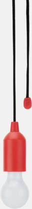 Röd / Svart 1W vit LED-lampor med reklamtryck