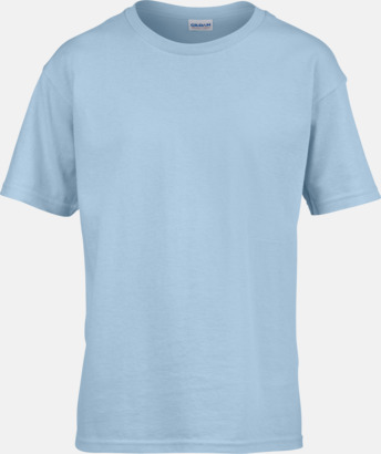 Ljusblå Billiga t-shirts med reklamtryck