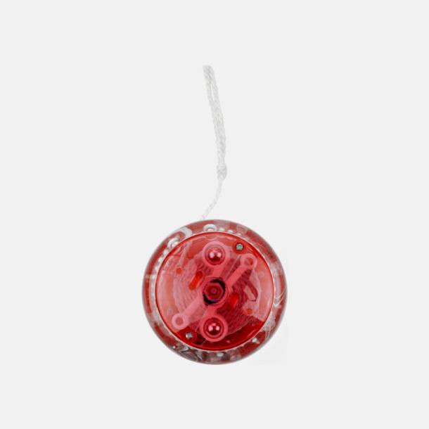 Röd Transparent jojo med reklamtryck