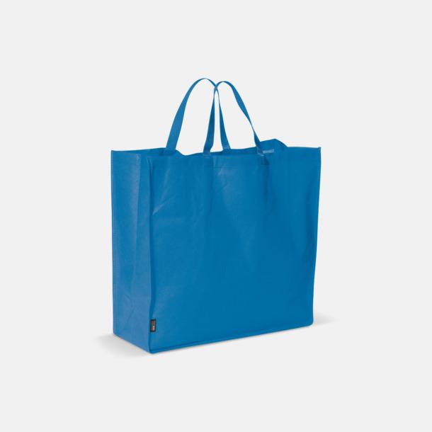 Blå Stor tygkasse med reklamtryck