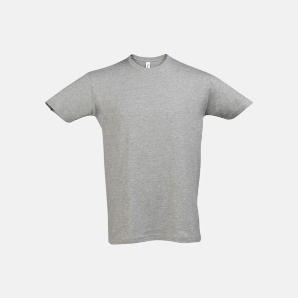 Grey Melange Billiga unisex t-shirts i många färger med reklamtryck