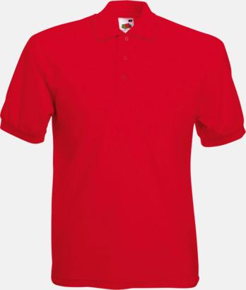 Röd Pikétröjor med reklamtryck eller brodyr