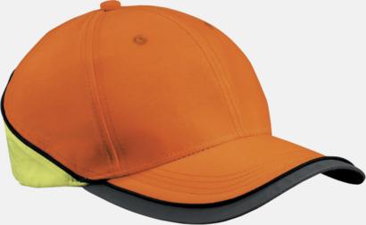 Orange Reflexkeps med egen brodyr