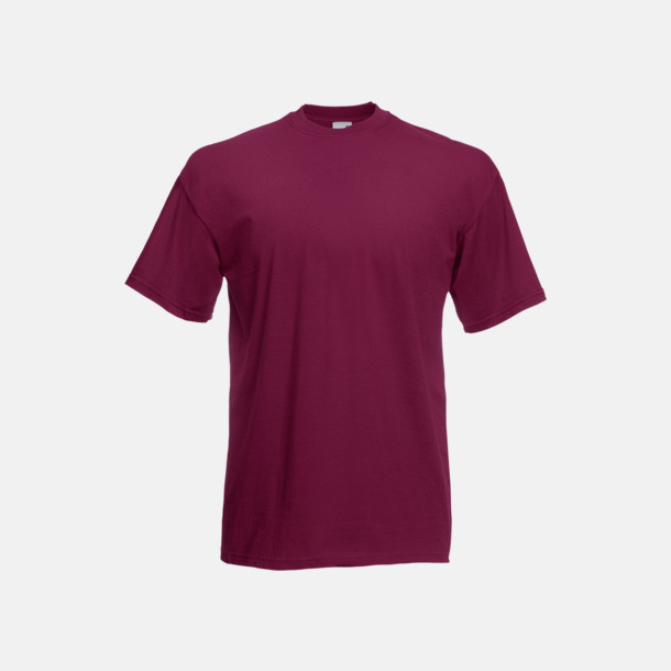 Burgundy Valueweight t-shirt med tryck