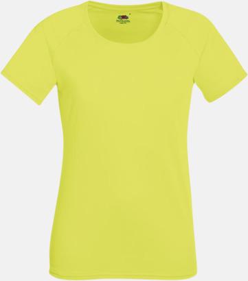 Bright Yellow (dam) Funktionströjor för herr, dam och barn - med reklamtryck