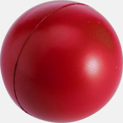 Röd Större stressbollar med reklamtryck