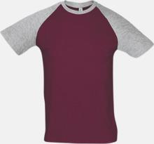 T-shirts i herr- och dammodell med kontrasterande färg - med reklamtryck