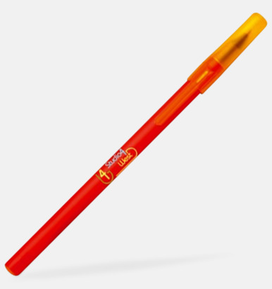 Röd/Frosted Yellow Kontorspennor med eget tryck