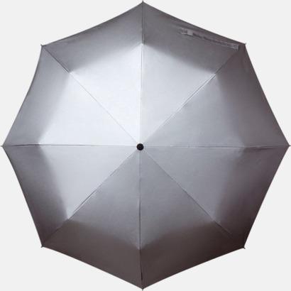 Svart/Silvergrå Paraplyer med tryck