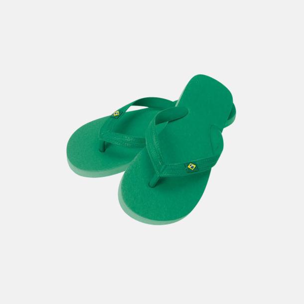 Grön Äkta Flip Flop från Brasilien med reklamtryck