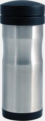 Borstad silver Termosmugg för bilen. Ta med dig en take away kaffe i bilen- utan att spilla!