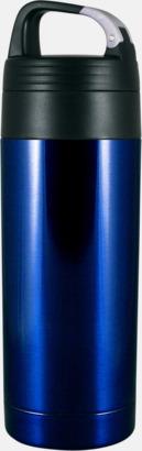 Safirblå Smidig termos med karbinhake