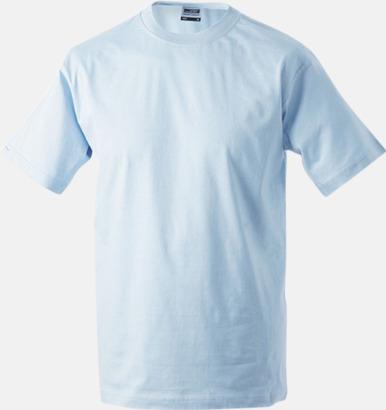 Ljusblå Barn t-shirtar av kvalitetsbomull med eget tryck