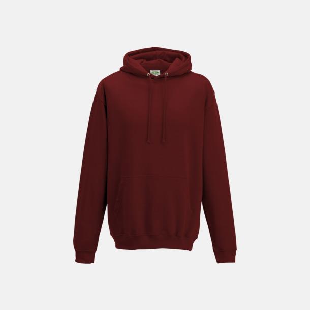 Brick Red Billiga collegetröjor i unisexmodell - med tryck