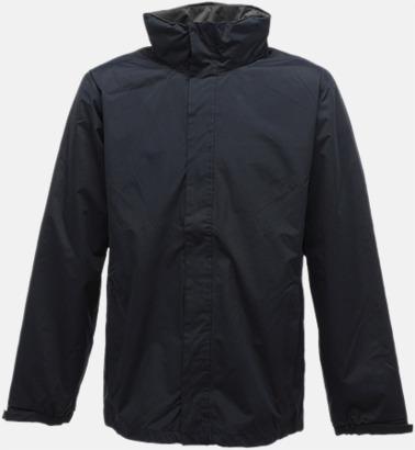 Marinblå/Seal Grey (solid) Vind- & regnjacka i herr- & dammodell med reklamtryck