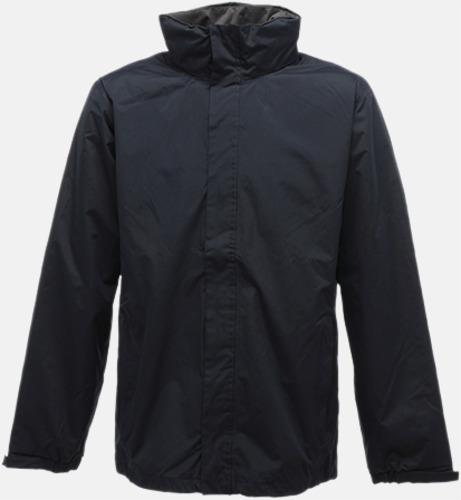 Marinblå/Seal Grey (solid) Vind- & regnjacka i herrmodell med reklamtryck