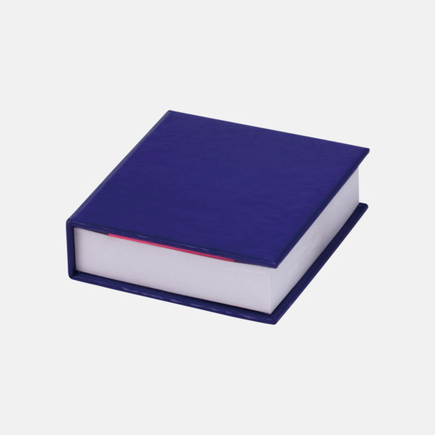 Blå Miniblock med märklappar - med reklamtryck