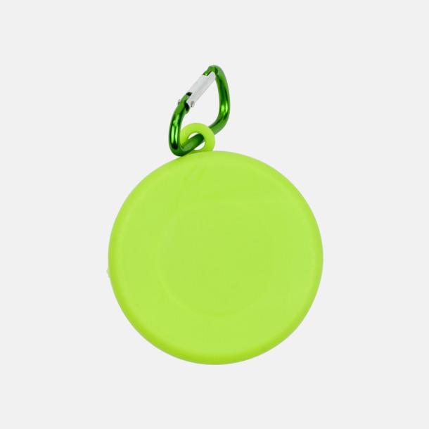 Limegrön Vikbara plastmuggar med eget tryck
