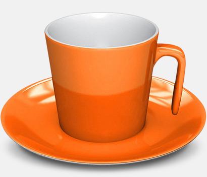 Orange Porslinskoppar med eget tryck