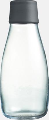 Grey Mindre vattenflaskor av glas med reklamtryck