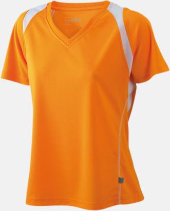 Orange/Vit Flerfärgade funktionströjor med eget tryck
