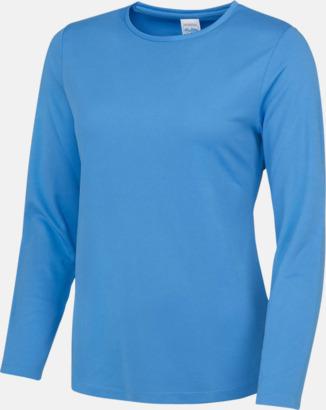 Sapphire Blue (endast dam) Unisex tränings t-shirts med långa ärmar - med reklamtryck