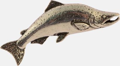 Lax Engelska, handgjorda broscher med jaktmotiv