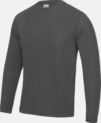 Unisex tränings t-shirts med långa ärmar - med reklamtryck