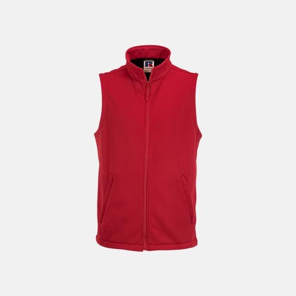Classic Red (herr) Västar i dam- och herrmodell av Softshell - med reklamtryck
