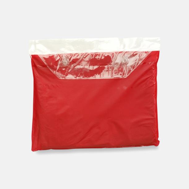 Röd Poncho med tryck