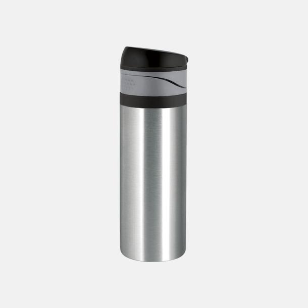 Borstat stål 0,4 liters ståltermosmugg med reklamtryck