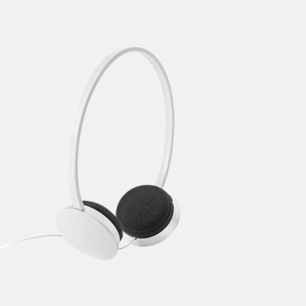 Vit On-ear hörlurar i många färger - med tryck