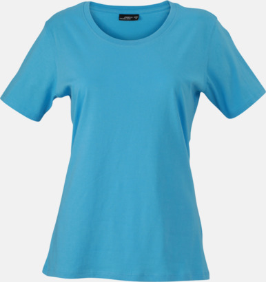 Sky Blue T-shirtar av kvalitetsbomull med eget tryck