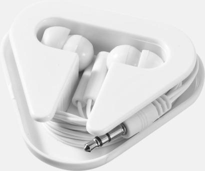 Vit (utan lock) In-ear hörlurar i praktisk förpackning
