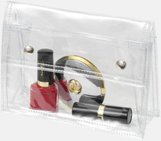Transparenta sminkväskor med reklamtryck