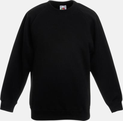 Svart Tjocktröjor för barn med eget tryck