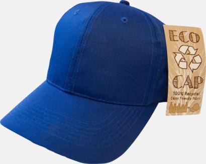 Royalblå miljövänliga kepsar med reklambrodyr