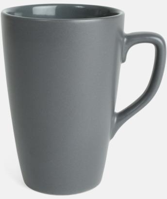 Grå Klassiska kaffemuggar med eget tryck