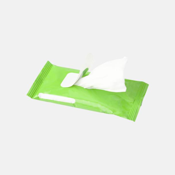 Box med 10 pre-fuktade näsdukar - med reklamtryck