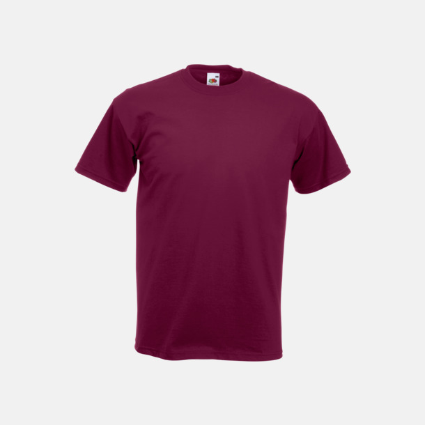 Burgundy Kraftig t-shirt med reklamtryck