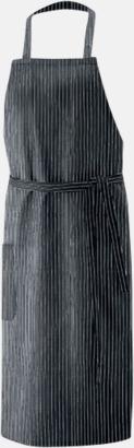 Svart/Vit (bib 100 x 100 cm) Förkläden i 5 varianter med reklamtryck