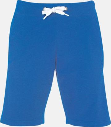 Royal Blue Shorts i herrmodell med reklamtryck
