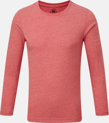 Red Marl (pojke) Färgstarka långärms t-shirts i herr-, dam och barnmodell