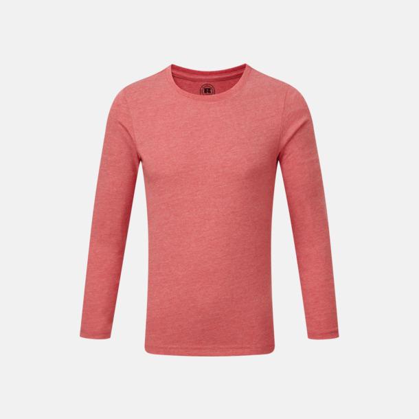 Red Marl (barn) Färgstarka långärms t-shirts i herr-, dam och barnmodell